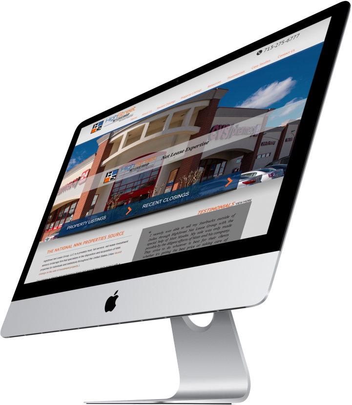 HighStreet Net Lease Group Website Design