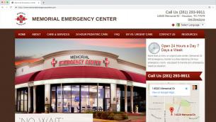 Memorial Emergency Center Website