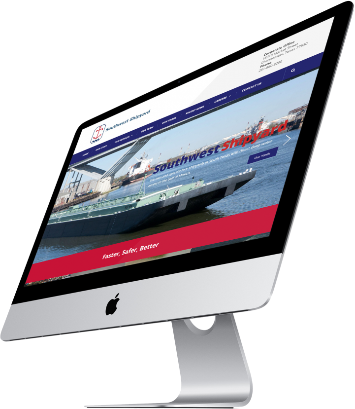 Southwest Shipyard Website Design