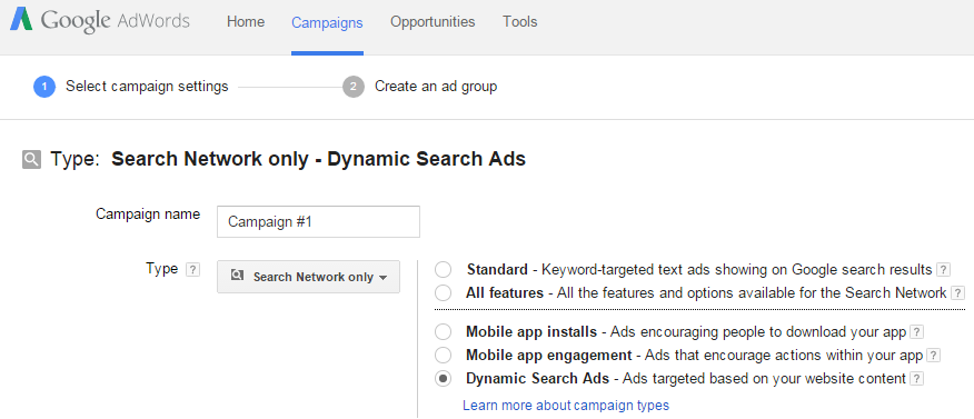 Dynamic Search Ad