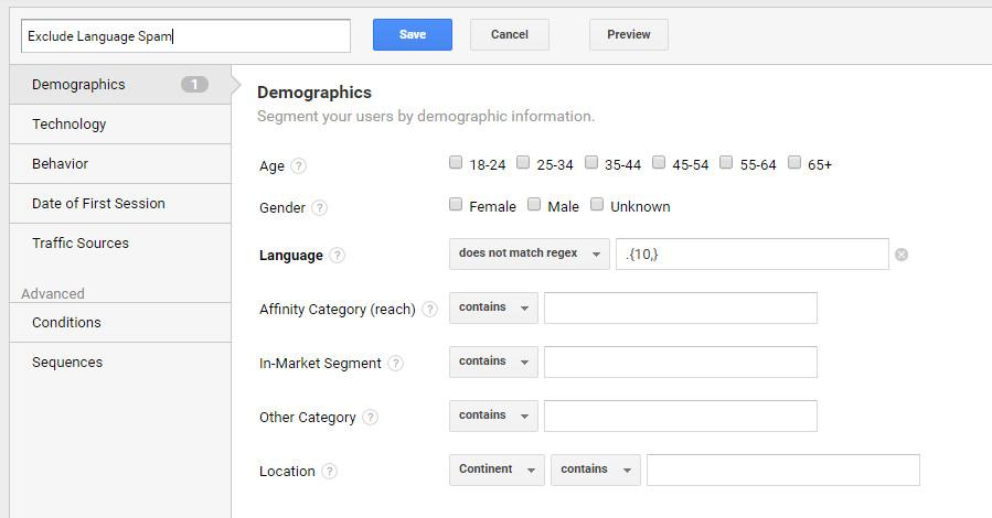 ga-spam-language-segmentation